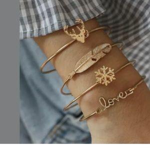 Jewelry - Anja Gold Layering Bracelets